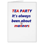 Tea Party Manners Greeting Cards
