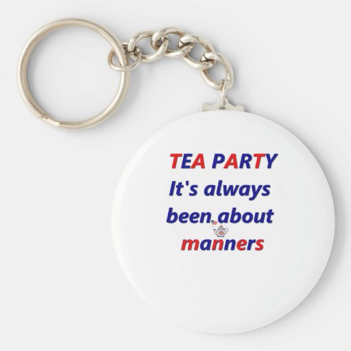 Tea Party Manners Key Chains