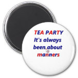 Tea Party Manners Magnet
