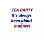 Tea Party Manners Postcard
