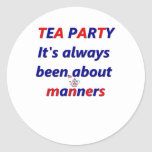 Tea Party Manners Stickers