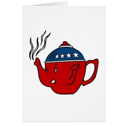 TEA PARTY MASCOT CARD