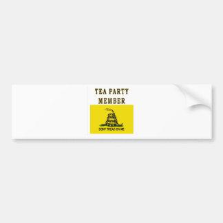 TEA PARTY MEMBER CAR BUMPER STICKER