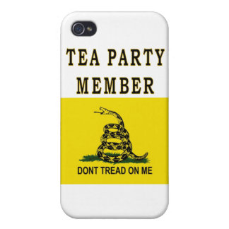 TEA PARTY MEMBER iPhone 4 COVER
