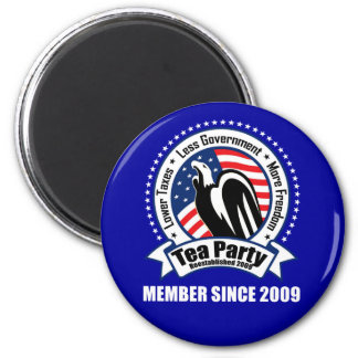 Tea Party - Member Since 2009 2 Inch Round Magnet