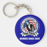 Tea Party - Member Since 2009 Keychains