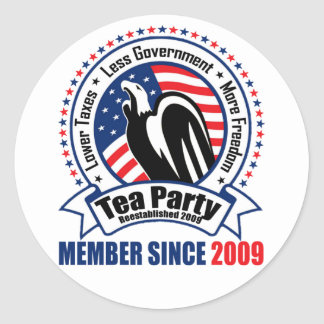 Tea Party - Member Since 2009 Stickers