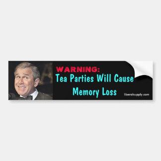 Tea Party Memory Loss Bumper Sticker