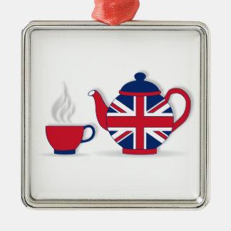 Tea Party Metal Ornament