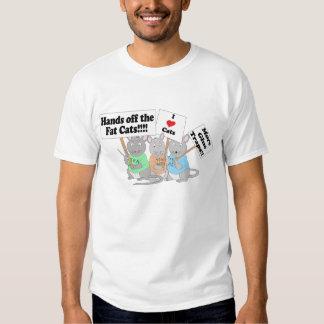 Tea Party Mice Protect Fat Cats Tee Shirt