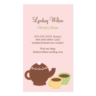 Tea Party Mommy Cards Double-Sided Standard Business Cards (Pack Of 100)