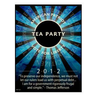 Tea Party Movement Postcard