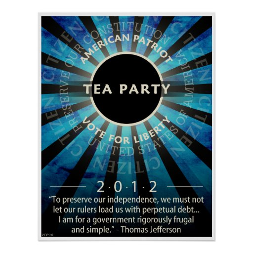 Tea Party Movement Poster