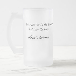 Tea Party 16 Oz Frosted Glass Beer Mug