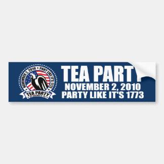 Tea Party - November 2, 2010 Bumper Sticker