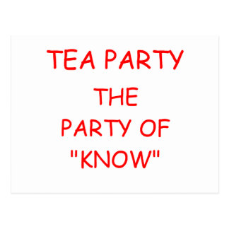 TEA party of know Postcard