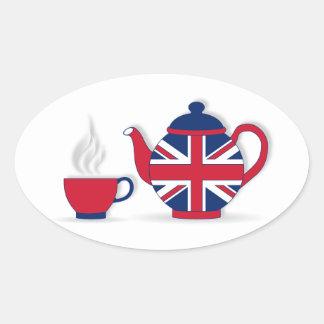 Tea Party Oval Sticker