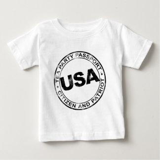 Tea Party Passport Baby T-Shirt