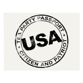Tea Party Passport Postcard