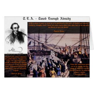 Tea Party Patrick Henry Card