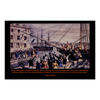Tea Party Patrick Henry Poster