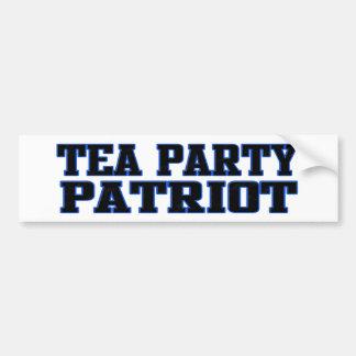 Tea Party Patriot Car Bumper Sticker