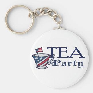 Tea Party Patriotic Flag Keychain