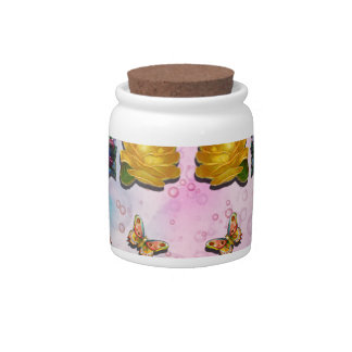 TEA PARTY PATTERN CANDY JAR