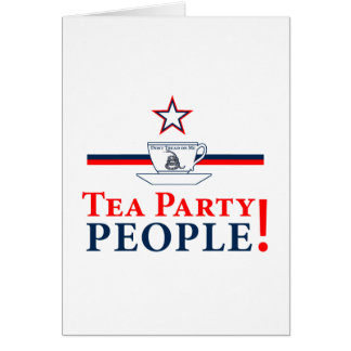Tea Party People! Greeting Cards