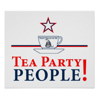Tea Party People! Poster