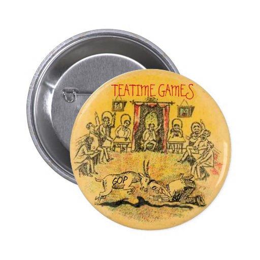 Tea Party Pinback Button
