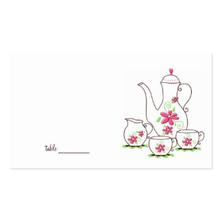 Tea Party Place Cards Double-Sided Standard Business Cards (Pack Of 100)