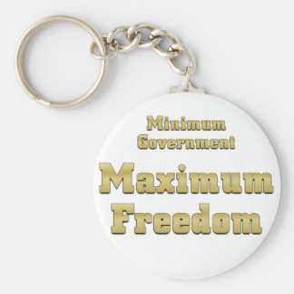 Tea Party Plan: Minimum Government Maximum Freedom Keychain