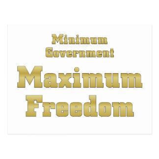 Tea Party Plan: Minimum Government Maximum Freedom Postcard