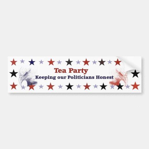 Tea Party Politcal Gear Bumper Sticker