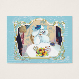 Tea Party Poodle Business Card/Profile Card