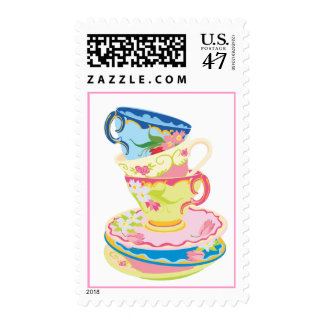 Tea party postage stamp