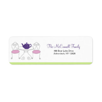 Tea Party PRINTABLE ADDRESS LABELS