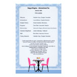 Tea Party Program Template Stationery