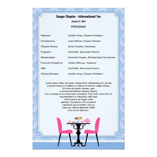 party program template