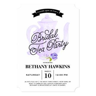 Tea Party Purple | Bridal Shower Card