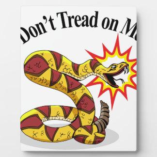 Tea Party Rattlesnake Plaque