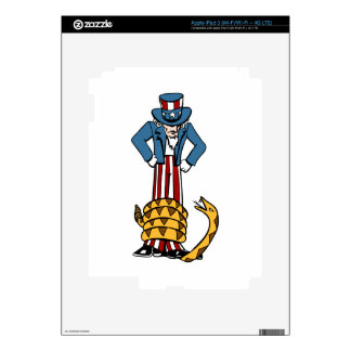 Tea Party Rattlesnake Uncle Sam Decal For iPad 3