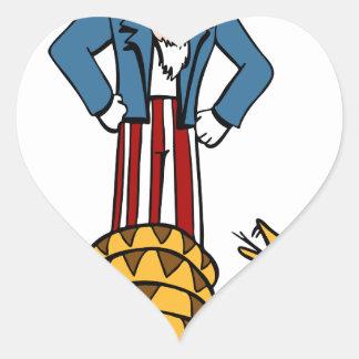 Tea Party Rattlesnake Uncle Sam Heart Sticker