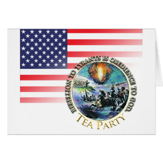 Tea Party Rebellion Greeting Cards