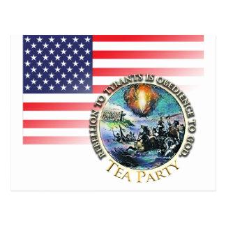 Tea Party Rebellion Postcard