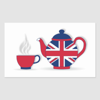 Tea Party Rectangular Sticker