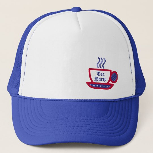 Tea Party - Red, White, & Blue Trucker Hat