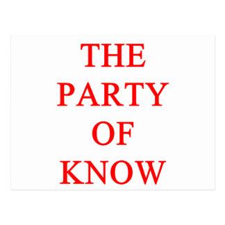 tea party republican postcard