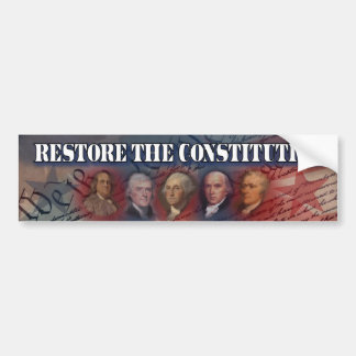 Tea Party - Restore the Constitution Bumper Sticker
